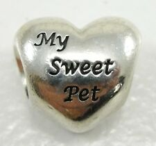 Authentic Pandora Sterling Silver My Sweet Pet Charm Bead #791262 ALE Cat