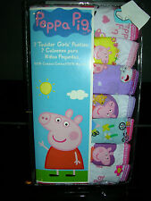 "Adorable  ""PEPPA PIG""  GIRLS  7 pr.. PKG. PANTIES  SIZE 4T  NWT"