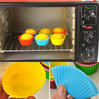 12pcs Silicone Gel Cake Muffin Chocolate Liner Baking Cup Decor Mold Supplies