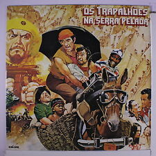 OS TRAPALHOES: Os Trapalhoes Na Serra Pelada LP (Brazil, '82, gold embossed pro