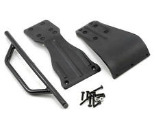 RPM Front Bumper Assembly with skid / brace Black For SC10 SC10.2 RPM70902