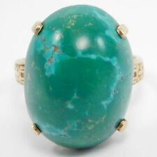 ART DECO 14K PERSIAN TURQUOISE RING BEAUTIFUL
