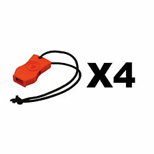 Ultimate Survival Technologies JetScream Micro Whistle Orange Signal (4-Pack)