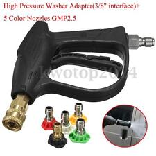 High Pressure Washer Spray Gun Cleaner Foam Lance Trigger + Quick Connect Nozzle