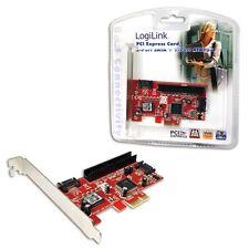 PCI-e KARTE INTERN 2x SERIAL-ATA S-ATA 1x IDE / ATA133 CONTROLLER COMPUTER PC