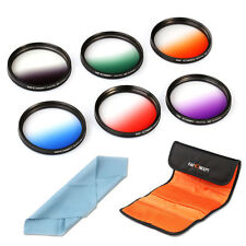 6pcs 58mm Graduated Color Lens Filter Kit For Canon Rebel XT T5i T3i XSi T2i