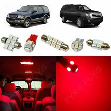 10x Red LED lights interior package kit for 2003-2013 Ford Expedition FE1R