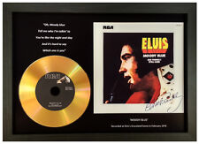 ELVIS PRESLEY 'MOODY BLUE' SIGNED GOLD PRESENTATION DISC