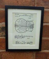 Estados Unidos de Patentes Dibujo Vintage Fender Guitarra Diseño Música Montado Impresión 1963 Regalo