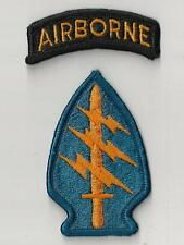 US ARMY PATCH - SPECIAL FORCES GROUP WITH AIRBORNE TAB