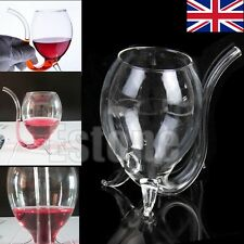New 300ml Glass Red Wine Vampire Devil Cup Mug With Built in Drinking Tube Straw