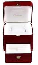 Cartier Classic Red with Accent Gold Colored Watch Box With Drawer COWA0045 New