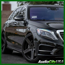 "22"" GIOVANNA WHEELS DRAMUNO-5 BLACK STAGGERED RIMS 5x112 FIT MERCEDES BENZ"