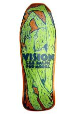 Vision Lee Ralph CONTORTIONIST CONCAVE Skateboard Deck ORANGE STAIN/LIME