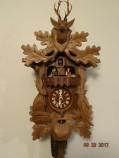 Vintage Rare Musical Animated Beautiful Black Forest Cuckoo Clock
