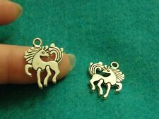 10 horse pendants charms Tibetan silver antique wholesale jewelry making -9