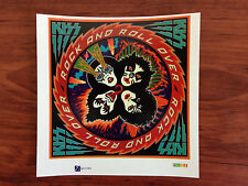 KISS - ROCK AND ROLL OVER - STICKER/DECAL - BRAND NEW VINTAGE - MUSIC BAND 002