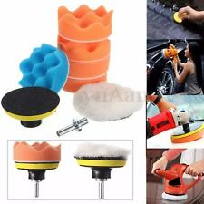 7Pcs 3'' Buffing Pad Kit For Auto Car Polishing Wheel Buffer +M10 Drill Adapter