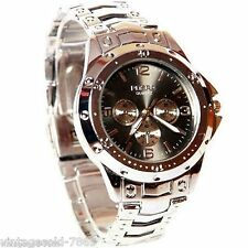 New Stylish Sober Wrist Watch for Men Black Dial-ROS SIL-BL
