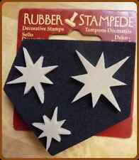 NEW STAR CLUSTER RUBBER STAMP STAMPEDE WALL ART, CARD MAKING, ARTS & CRAFTS NEW