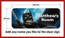 Lego Batman Personalised Childrens Bedroom Door Plaque Sign Boys Girls