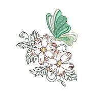 BUTTERFLIES AND FLOWERS  SET 2 -  20 MACHINE EMBROIDERY DESIGNS