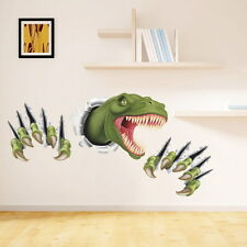 PVC 3D Dinosaur Wall Sticker Kids Room Decal Mural Art Removable DIY Home Decor