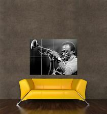 Impression photo affiche musique musicien de jazz trompette Miles Davis cool seb703