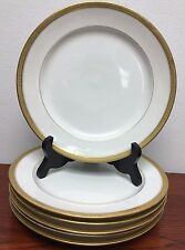 """6 Chas Field Haviland W """"GDA"""" France Salad Plate Gold Encrusted Scroll Band"""