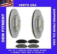 Verto USA Set Of Front Disc Brake Rotor Plus Pads 3295X2-CP