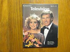 Sept. 8, 1985 Detroit News Television Mag(MISS USA SHARLENE  WELLS/GARY COLLINS)