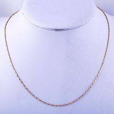 korean jewellery Rose Gold Plated womens long Rope necklace chain 18.1 inches