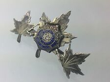 Royal Canadian Army Corps Sweet Heart WW2 World War 2 Marked Sterling Pin A407