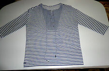 Lacoste Used Women's Long Sleeve T Shirt Blue White Gray Size Small On Sale $25