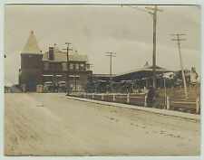 RARE Unique Photo Lehigh Valley Railroad Depot - Geneva NY 1905 RR Station