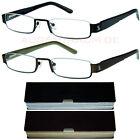 Lesebrille Metall Lesehilfe Damen Herren Unisex 1,0 1,5 2,0 2,5 3,0 Brille Neu