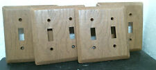 Wood Grain 2 Toggle Wall Switch Plate Cover Plastic 4 Per Order