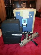 VINTAGE 8MM Movie Film PROJECTOR Bell & Howell MODEL 256 w/ Remote+Indoor Light