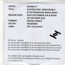 (EE454) Rodney P, Success Feat Harleighblu & The Renegade Brass Band - DJ CD