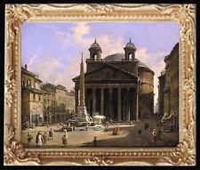 ROME PANTHEON Dollhouse Picture - Miniature FRAMED Art - MADE IN AMERICA
