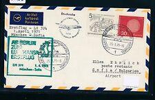 95436) LH FF München - Sofia Bulgarien 1.4.71, Brief ab Berlin