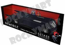 Batman The Animated Series (BATMOBILE) With Batman & Robin Bendable Figures NEW