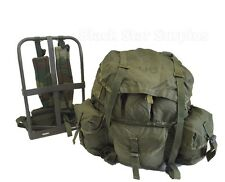US Army OD Large ALICE LC-1 Combat Field Pack with Frame, Straps, Belt, Liner