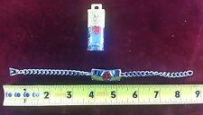 Stainless Steel Medic Medical Alert  Emergency Bracelet Hard Of Hearing Chain