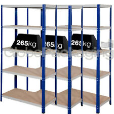 3 Bays Of SUPER HEAVY DUTY & WIDE Industrial Warehouse Shelving 1800x1200x600mm