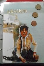 * Das Geld der Welt * Kursmünzen Libanon- 3 Münzen (ALB 13)