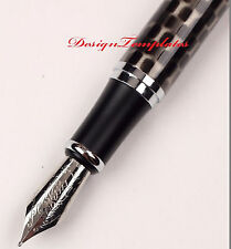 FOUNTAIN PEN CHESSBOARD GREY JINHAO X750 CLASSIC STYLE MEDIUM 18KGP NIB UK STOCK