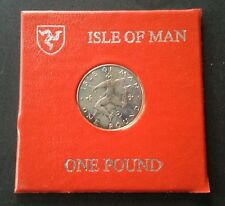 Isle of Man 1979 One Pound Triskeles Reverse Coin UNC & Cased RARE