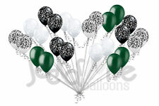 24pc Elegant Damask Black White Clear Green Latex Balloons Party Decoration Baby