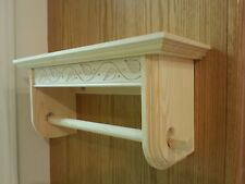 PAPER TOWEL HOLDER WITH 15 INCH SHELF SOLID PINE UNFINISHED